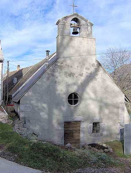 Vue generale de la chapelle